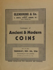 Catalogue of ancient & modern coins, including a fine collection of Oriental coins, chiefly Indian, in silver and bronze, about 500 in number; and an 18th century gold and enamelled badge,  ... [12/05/1946]