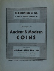 Catalogue of ancient & modern coins, including a series of Syracusan tetradrachms; Indo-Scythic coins of Kushan; coins of Scotland; [as well as] coins of Malta, mostly from Sir Edwin King's sale, June 1, 1944; [etc.] ... [04/28/1947]