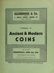 Catalogue of ancient & modern coins, [including] several French coins, with Poey d'Avant reference numbers; as well as English coins, medals, and silver, [containing] a Scotland, Queen Mary testoon, of 1562; [etc.] ... [06/04/1947]