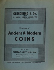 Catalogue of ancient & modern coins, [including further] autograph letters of Florence Nightingale; the property of the late J.F. Crabtree, Esq., [sold] by order of the trustees; another property,  ... [07/29/1947]