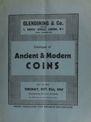 Catalogue of ancient & modern coins, including an aureus of Agrippina, the younger, and Claudius; a Richard II noble, three ropes from stern of ship and one to prow; an Oliver Cromwell broad, by Simon;  ... [10/21/1947]