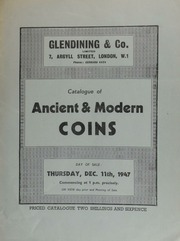 Catalogue of ancient & modern coins, [including] the collection of the late H.C. Clifford, Esq., [containing] silver historical medals, [such as] the escape of the [Polish] Princess Clementina from Innspruck, 1719; [etc.] ... [12/11/1947]