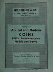 Catalogue of ancient and modern coins, medals commemorative of British history, the property of W. Waite Sanderson, Esq., C.B.E., and books, [etc.] ... [07/27/1942]