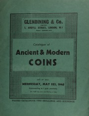 Catalogue of ancient & modern coins, including a choice collection, the property of a collector, [containing Roman and English coins, etc.]; [as well as] another choice collection, the property of a[nother] collector, [containing English, foreign and Greek coins, etc.] ... [05/12/1948]
