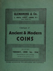 Catalogue of ancient & modern coins, including Greek and Roman gold coins, such as a Philip II stater; English coins, such as a Charles II halfcrown of 1673, with plume under King's bust; foreign coins, ... [06/01/1948]