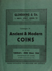 Catalogue of ancient & modern coins, [including] the collection of a collector, deceased, [containing] an Egyptian octodrachm of Arsinoe II (B.C. 285-247) wife of Ptolemy II; a choice collection of crowns and siege pieces;  ... [06/22/1948]
