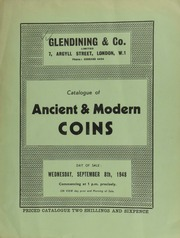 Catalogue of ancient & modern coins, including the property of a baronet, [containing] a medal for the investiture of Charles XI of Sweden with the Garter at Stockholm, 1669; [as well as] hammered silver coins, [etc.] ... [09/08/1948]