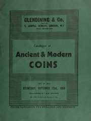 Catalogue of ancient & modern coins, [including] an aureus of Agrippina and Nero; Oriental coins of the Musulmans; a very interesting half noble Henry V - Henry VI; George III, pattern for a guinea; also halfcrowns; [etc.] ... [09/22/1948]