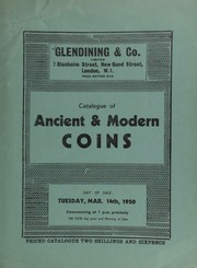 Catalogue of ancient & modern coins, [including] 13 lots [comprising] 27 James I gold coins from the Lambourne Treasure Trove; [as well as] coins of Scotland, Maundy money, [and] cabinets ... [03/14/1950]