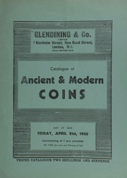Catalogue of ancient & modern coins, [including] a gold medal commemorating the Conquest of Trinidad, 1797; [and another celebrating] the International Invention Exhibition, 1885, by L.C. Wyon; [as well as] the property of a collector; [etc.] ... [04/21/1950]
