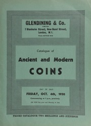 Catalogue of ancient and modern coins, including silver, bronze and copper coins, the property of Mrs. E.B. Reynolds; [as well as] a William II twelve pound piece, 1701, laureate bust to left; [etc.] ... [10/06/1950]