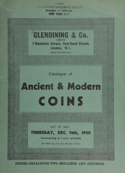 Catalogue of ancient & modern coins, including ancient, English and foreign gold, specimen sets, gold medals, [and] Spanish silver, [and containing] a Greek Ptolemy VI Philometor octodrachm of Arsinoë II; [and] a Brazilian gold bar dated 1813 from the Goyaz Mint; [etc.] ... [12/14/1950]