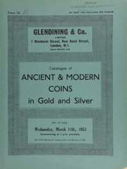 Catalogue of ancient & modern coins, in gold and silver, [including] a Queen Victoria mint specimen set of 1839; [also] curious currency, [such as] Siamese leaf money; Chinese boat money; [and] Indian silver larins; [etc.] ... [03/11/1953]