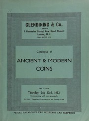 Catalogue of ancient & modern coins, [including] the well-known collection of almost 650 17-19 century Irish tokens formed by the late Henry C. Drury, M.D.; a Queen Victoria five pound piece, 1893, by W. Wyon,  ... [07/23/1953]