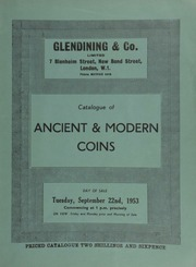 Catalogue of ancient & modern coins, [including] a Mary sovereign, 1553, Queen enthroned, halved rose and castle between four annulets; First coinage of South Africa mint, Pretoria, George V specimen set of 1923 coins;  ... [09/22/1953]