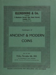 Catalogue of ancient & modern coins, [including] many Roman coins, with lots 117-141 formerly belonging to Mr. Matajiek; [and] a Henry VIII sovereign, Br. Group II (1545-1547); [etc.] ... [11/06/1953]