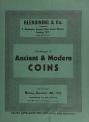 Catalogue of ancient & modern coins, [including] coins of India, with three lots being sold by order of [jewellers, goldsmiths, and silversmiths] Messrs. Jay, Richard Attenborough & Co., Ltd.; [as well as] silver & copper coins & tokens, [etc.] ... [12/14/1953]