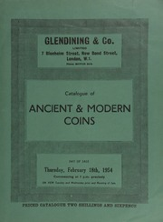 Catalogue of ancient & modern coins, in gold and silver, [including] a set of Queen Victoria pieces, to Bonomi's pattern, 1837; [as well as] a Victoria proof set of 1893 coins, in gold; [etc.] ... [02/18/1954]
