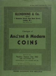 Catalogue of ancient & modern coins, [containing] a collection of English gold coins, including a fine range of Victorian sovereigns, [possessing even those] of the Colonial mints; [as well as] the numismatic collection formed by the late A.D.C. Hooper;  ... [01/31/1955]