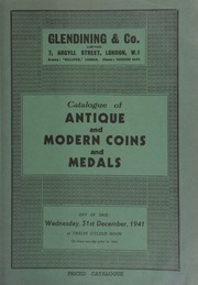 Catalogue of antique and modern coins and medals, [including] Omnium Caesarum, illustrations of Roman coins, Caesar to Domitian, printed 1553,  ... [12/31/1941]