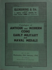 Catalogue of antique and modern coins, [containing] a collection of Maundy money; and early military and naval medals, [including] the [further] property of the late C.J. Varty, Esq.; etc. ... [02/25/1942]