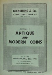 Catalogue of antique and modern coins, including a Birmingham Workhouse copper sixpence; and three medals commemorating the opening of the Crystal Palace, in case; [etc.] ... [12/30/1943]