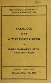 Catalogue of the A. W. Crans collection. [03/07/1918]