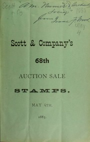 Catalogue of a beautiful uncancelled collection of American and foreign postage stamps ... [05/04/1885]