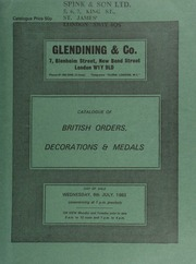 Catalogue of British orders, decorations & medals, [including] an important K.C.B. group, of considerable South African interest, awarded to Maj. Gen. Sir John Dartnell;  ... [07/06/1983]