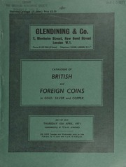 Catalogue of British and foreign coins, in gold, silver and copper, [including] a small collection of Ancient British coins, [containing] a Bellovaci gold quarter-stater from the Halsmere Hoard,  ... [04/15/1971]