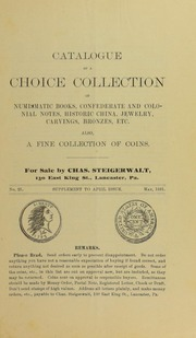 Catalogue of a Choice Collection ..., No. 25A, supplement to April issue