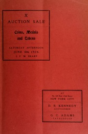 Catalogue of a choice European collection : the property of the late John Tonnenwald ... [06/18/1904]