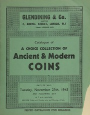 Catalogue of a choice collection of ancient & modern coins, [being] the English silver coins, including a series of ancient British gold, formed by the late F.W. Duart-Smith, of Staniforth, Tuffley, Gloucester,  ... [11/27/1945]