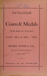 Catalogue of United States and foreign silver and copper coins ... [06/28/1880]