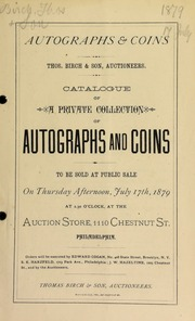 Catalogue of coins and medals ... [07/17/1879]