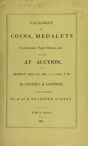 Catalogue of coins, medalets, continental paper money, &c. ... [03/06/1865]