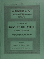 Catalogue of coins of the world, in gold and silver, including coins from the estate of the late Mr. Wayte Raymond, of America, comprising his French gold and silver, and a few Chinese patterns; ... [06/10-11/1963]