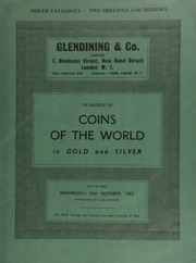 Catalogue of coins of the world, in gold & silver, including a William IV proof set of 1831 coins; Johann Strauss, set of three gold medals by Schmidt; an Egyptian Arsinoe II octadrachm, rev. double cornucopiae;  ... [10/20/1965]