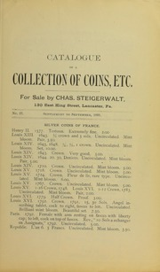 Catalogue of a Collection of Coins, Etc., No. 27