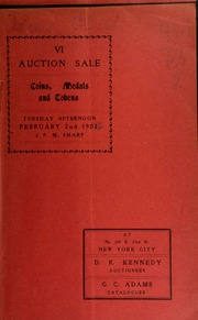 Catalogue of the collection of coins, medals, tokens ... : the property of Dr. Charles A. Graeber ... [02/02/1904]