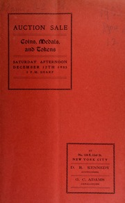 Catalogue of the collection of coins, medals, tokens, etc. : the property of Henry J Crosby, David Armstrong, and a retiring collector ... [12/12/1903]