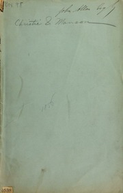 Catalogue of the collection of Greek and Roman coins, early Italian medals, and medallions, &c., &c., of the late Samuel Rogers, Esq. ... [05/26/1856]