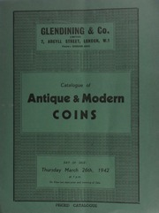 Catalogue of a collection of antique & modern coins, [including] a very fine collection of James II gun money, [etc.] ... [03/26/1942]
