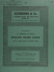 Catalogue of a collection of choice English silver coins, and a small series of gold coins, [the property of K. Woodhouse, of Shrewsbury] ... [12/11/1968]