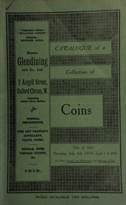 Catalogue of a collection of coins, including U.S.A. New Haven, 1838; Lake Erie, English ships defeated, 1813, Humane Society of Massachusetts; Gunpowder Plot medallet, 1603; Rosa Americana two-pence; James II Limerick half-penny; [etc.] ... [07/03/1919]