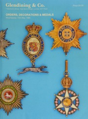 Catalogue of the collection of orders, decorations and medals of the world, formed by the late Carleton Sprague Gifford, of Boston Massachusetts, U.S.A. ... [05/15/1985]