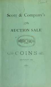 Catalogue of a collection of oriental and European coins, the collection of Mr. G. Blake ... [10/10/1881]