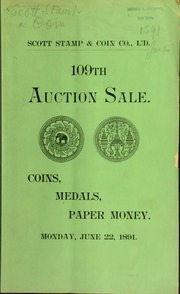 Catalogue of the collection of coins and medals ... of Mr. E. L. Nagel ... [06/22/1891]