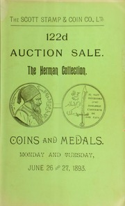 Catalogue of the collection of coins and medals belonging to Mr. J. E. Herman ... [06/26/1893]