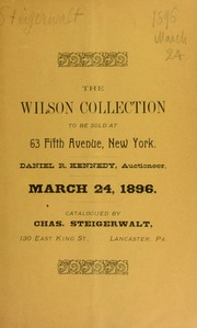 Catalogue of the collection formed by John Wilson, Harrisburg, Pa. [03/24/1896]